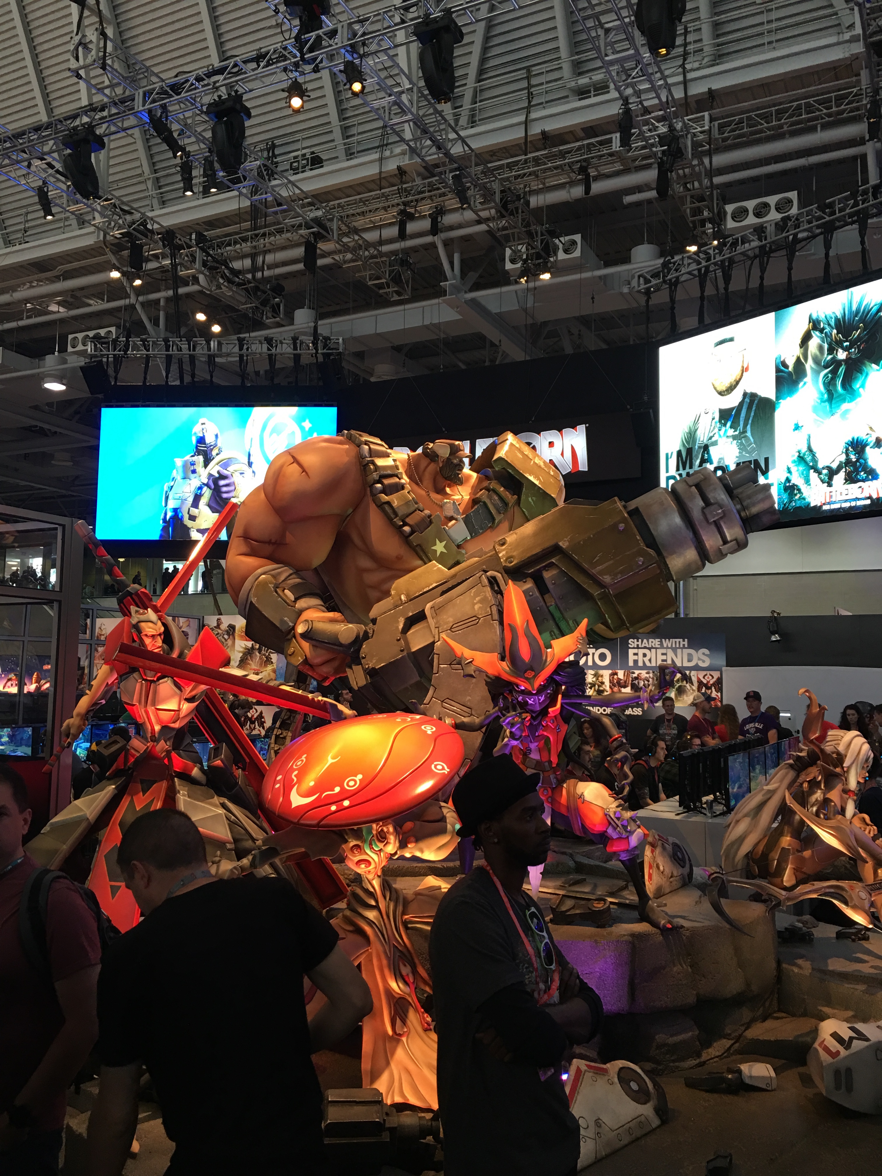 Battleborn Character Display at PAX East 2016 booth