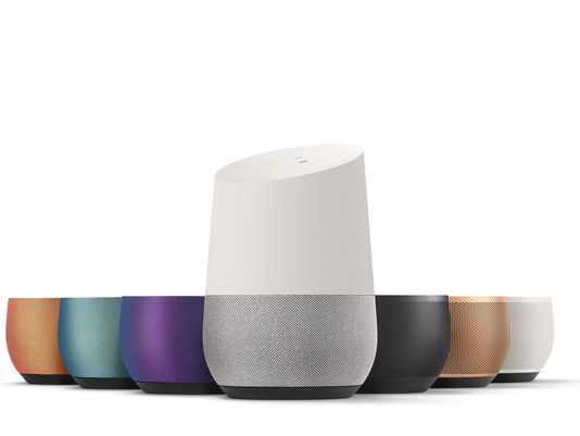 Google Home Image With Base Plates. Source: USAToday.com