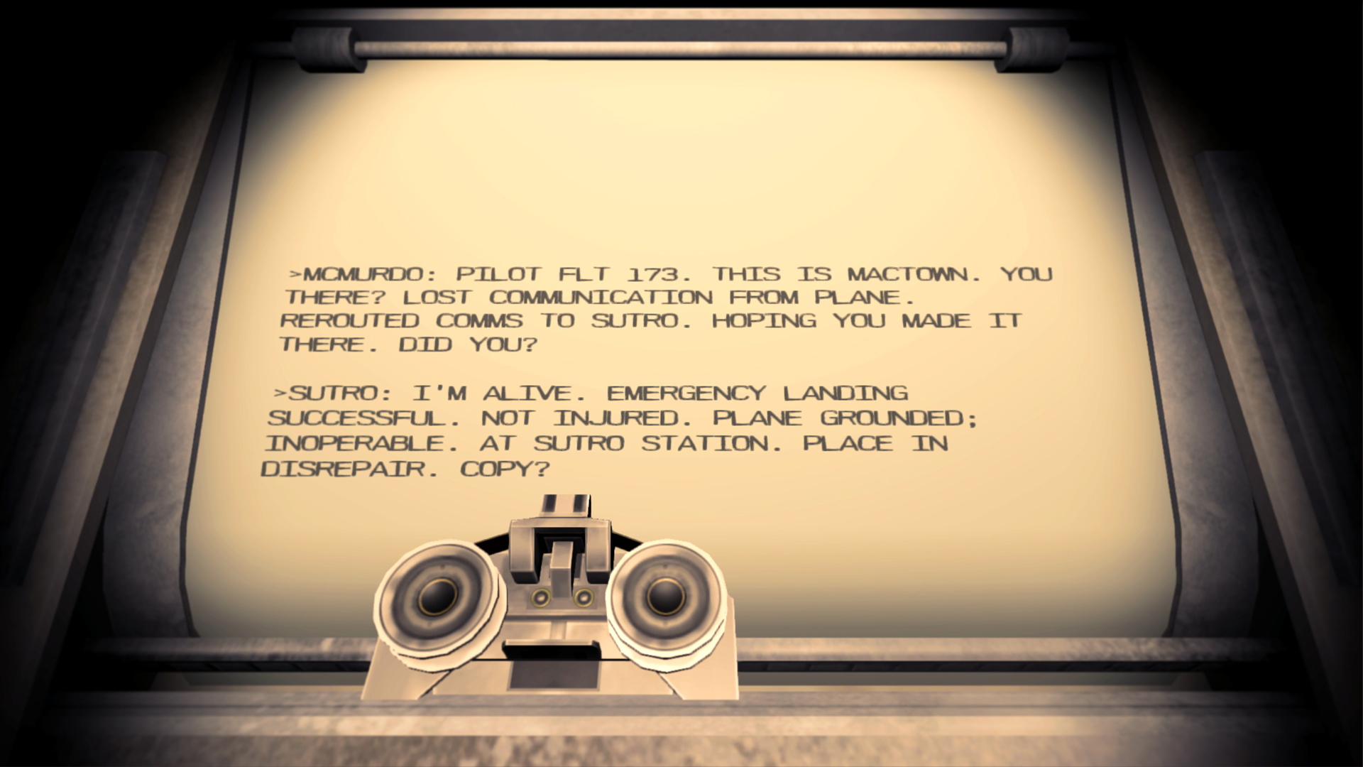 Near Death - Teletype screenshot