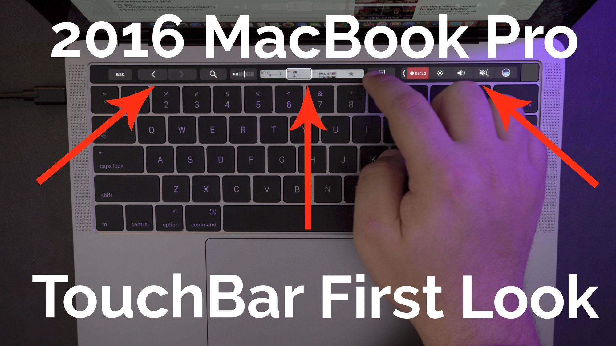 First Look: Touch Bar Features on 2016 MacBook Pro